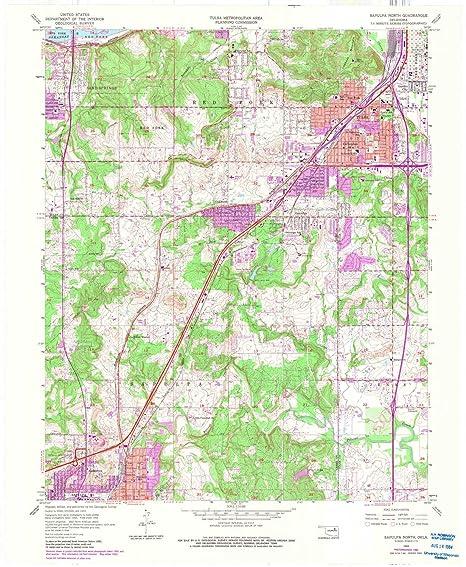 Amazon.com: YellowMaps Sapulpa North OK topo map, 1:24000 ... on talihina oklahoma road map, osage county oklahoma road map, rogers county oklahoma road map, tulsa oklahoma road map, norman oklahoma road map,