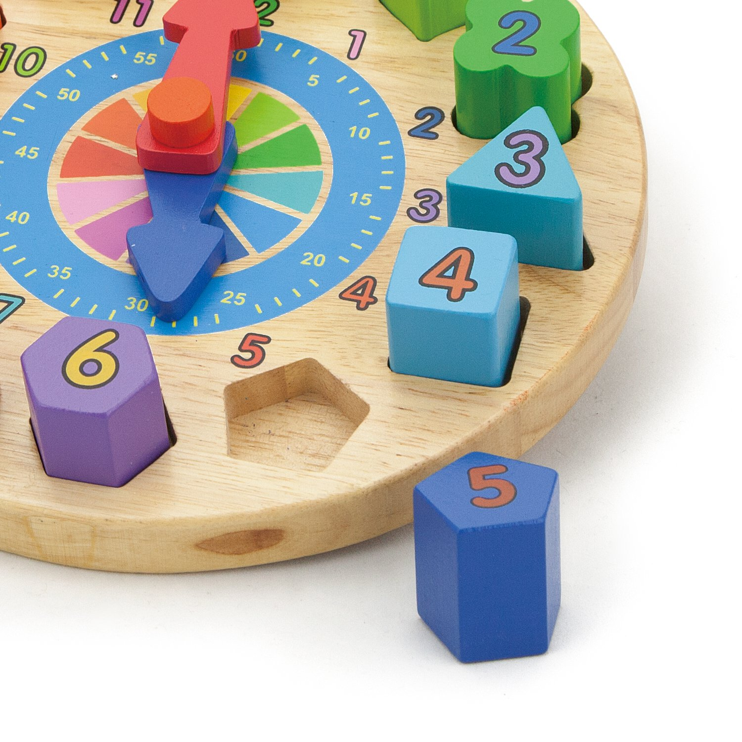 Wooden Round Clock by Viga Toys (Image #1)