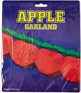 Tissue Apple Garland Party Accessory (1 count) (1/Pkg)