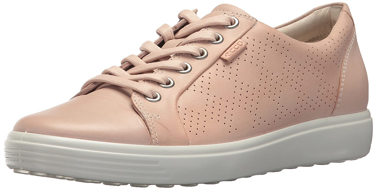 pink Dust Perforated ECCO Women's Women's Soft 7 Tie Fashion Sneaker