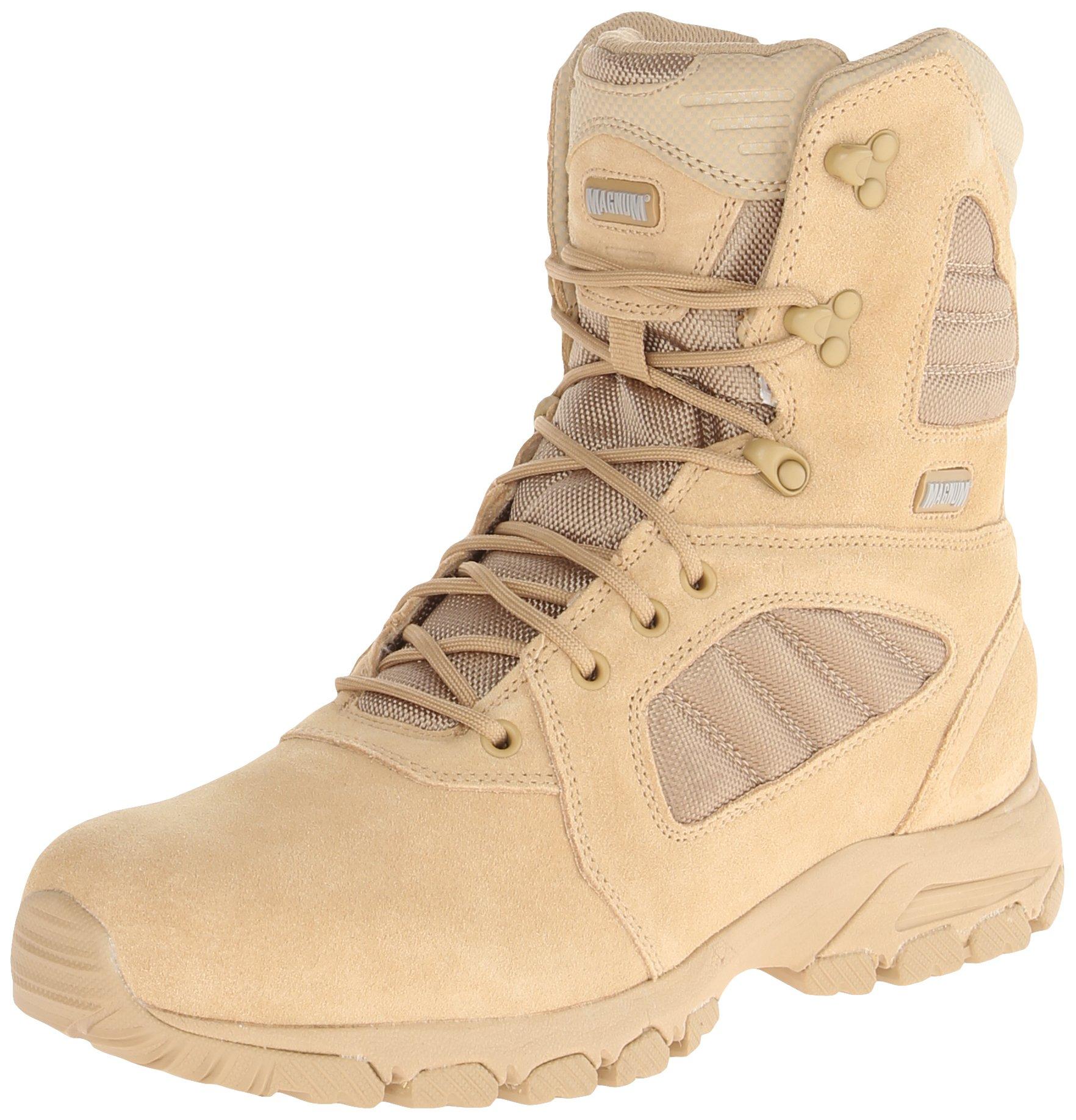 Magnum Men's Response III 8.0 Side-Zip Slip Resistant Work Boot,Desert Tan,10.5 M US