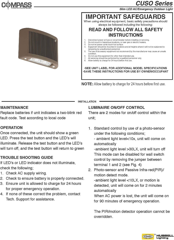 Medium HUBBELL DB-H CUSO Series 3000K Outdoor AC//EM with Heater Dark Bronze