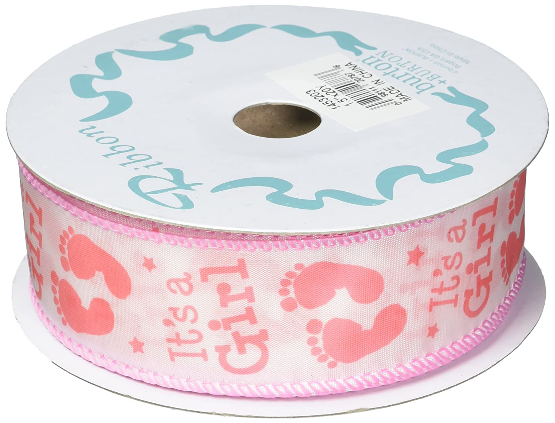 Amazon.com: Burton & Burton Ribbon #9 It's A Girl Feet 20 ...