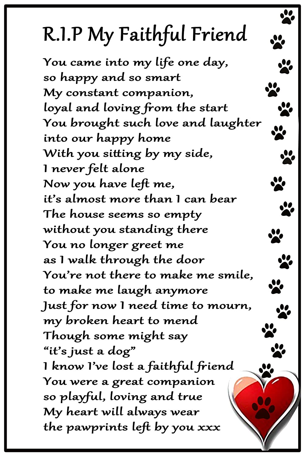 My Dog - Inspirational poem, candle and photo holder glass memorial ...