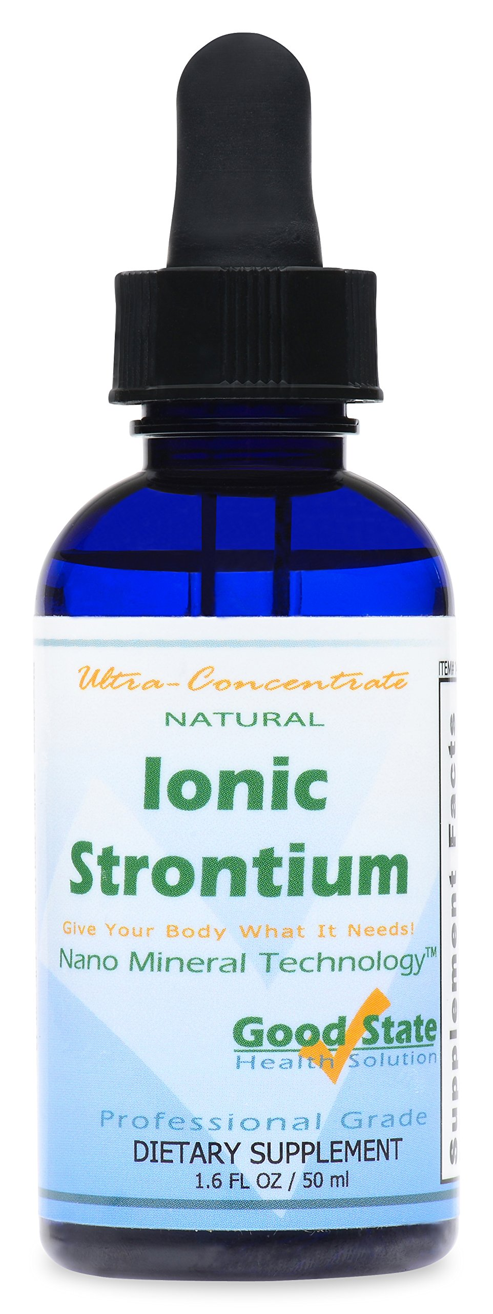Good State Liquid Ionic Strontium Ultra Concentrate (10 drops equals 30 mg - 100 servings per bottle)