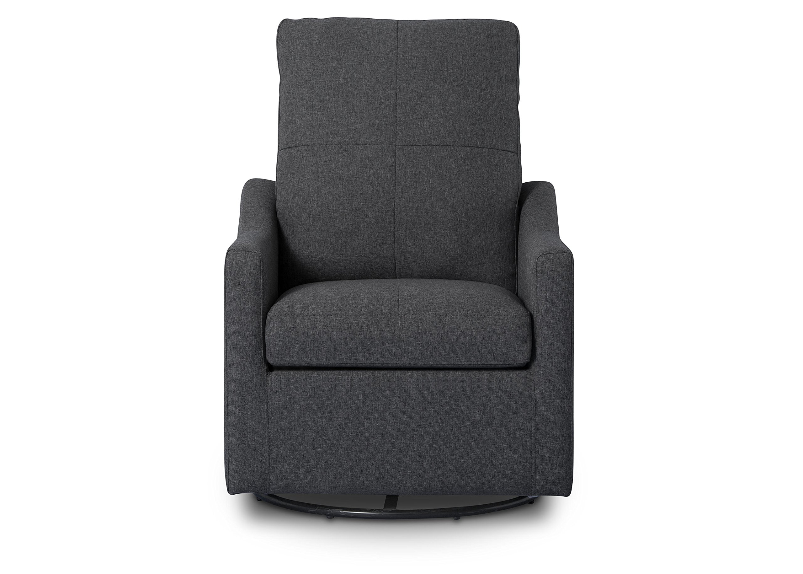 Delta Children Kenwood Glider Swivel Rocker Chair, Charcoal (Dark Grey) by Delta Children