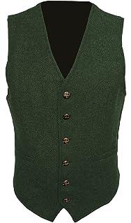 Navy Blue T1* Mens Wool Tweed Slim Fitted Vest Waistcoat S M L XL 2XL