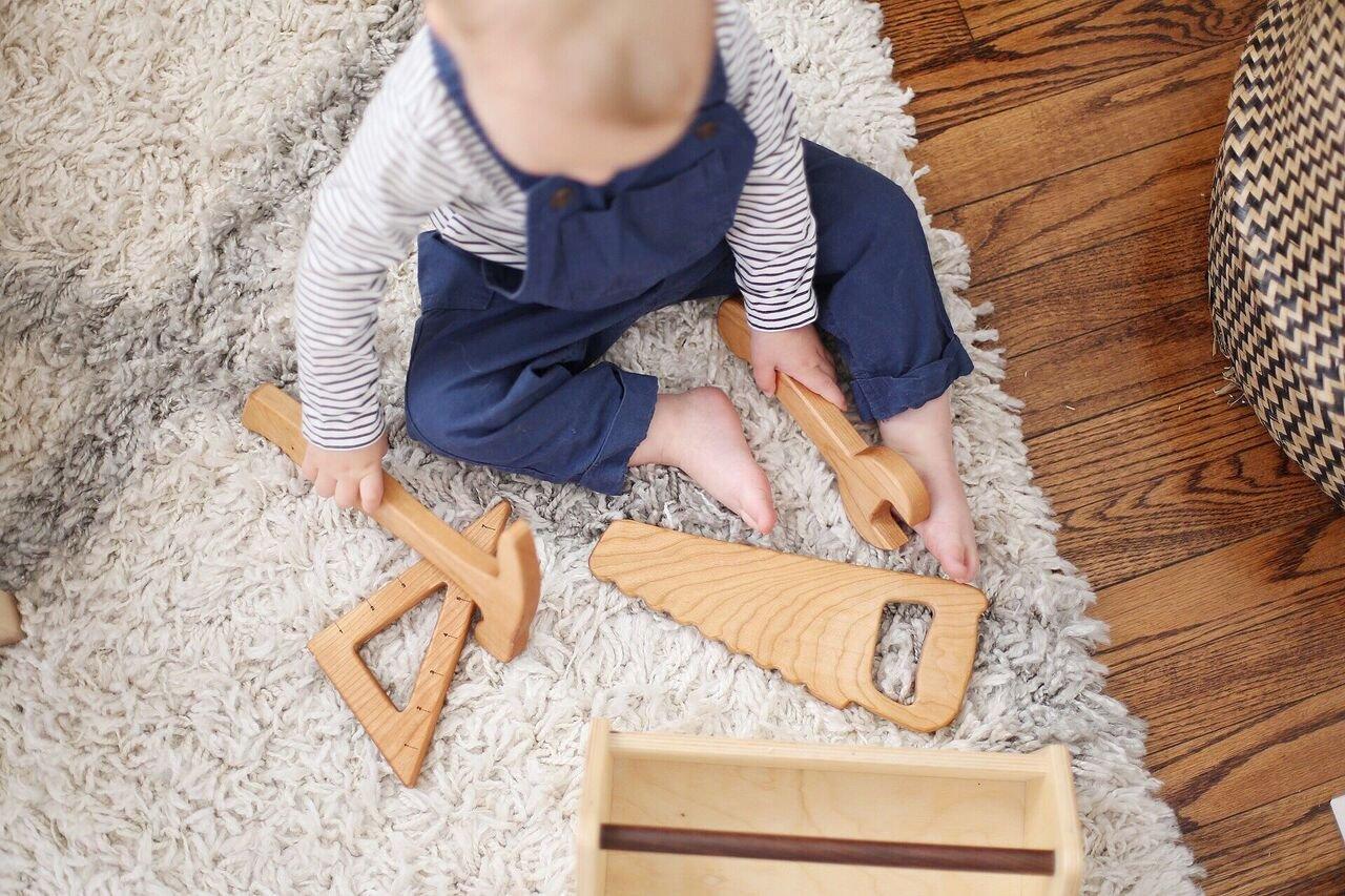 Wooden Tool Box Set