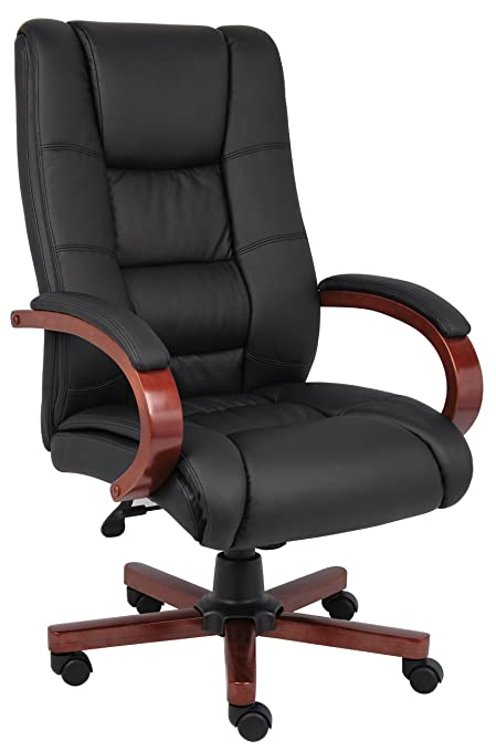 Boss Office Products B8991 M High Back Executive Chair In Black