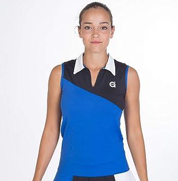 a40grados Sport & Style, Polo PIM, Azul-Negro, Mujer, Tenis y ...