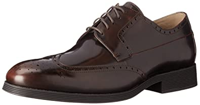 Clarks Mens Gabwell Limita Chestnut Leather - Oxfords