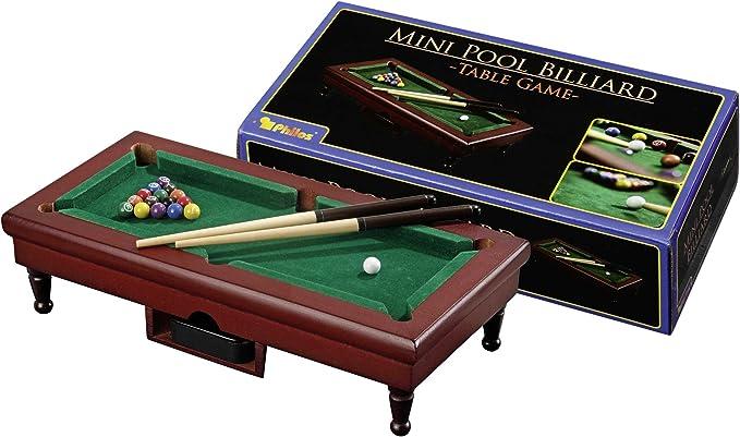 Philos 3231 - Billar en Miniatura: Philos 3231 - Mini Pool Billiard - Table Game, Geschicklichkeitsspiel: Amazon.es: Juguetes y juegos
