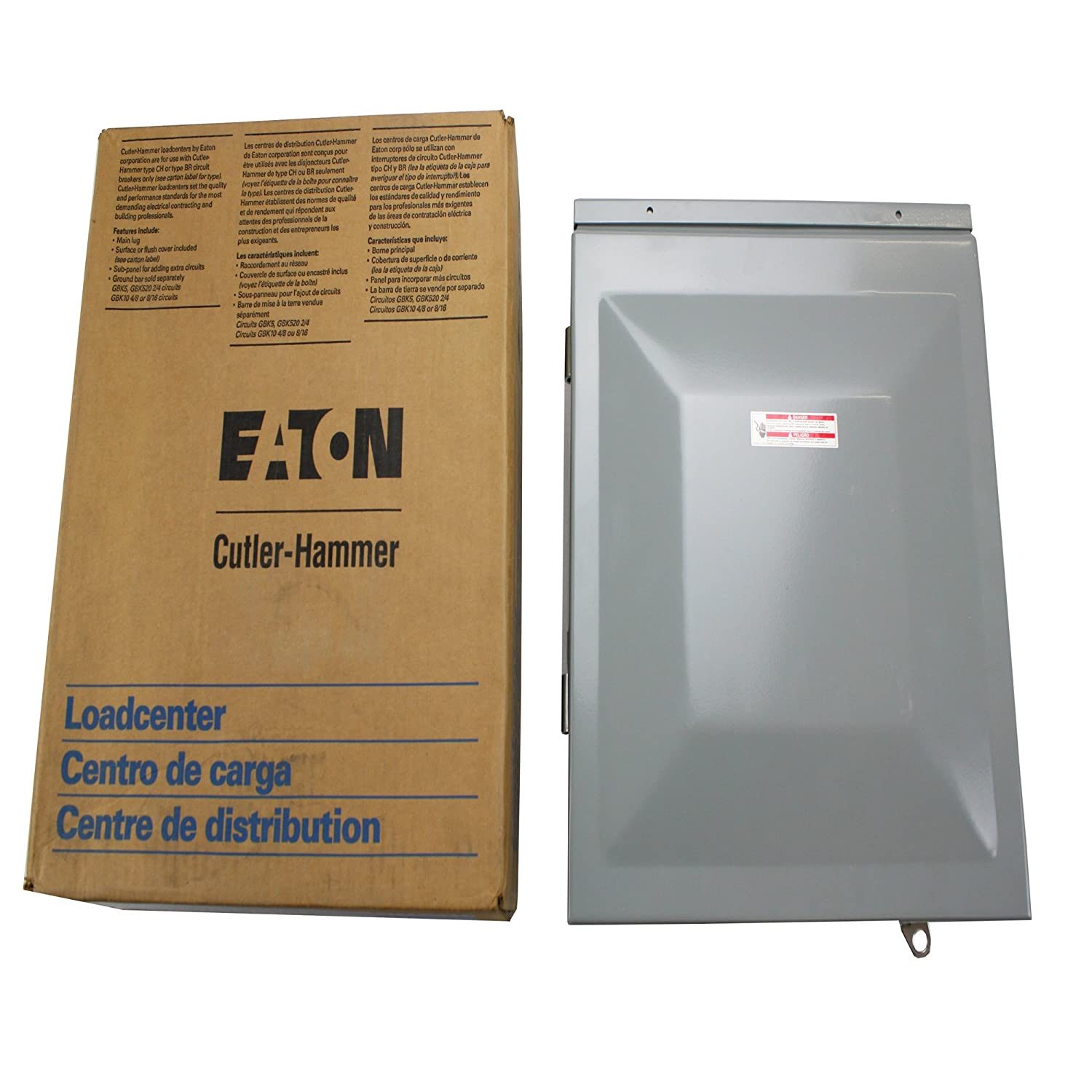 New 125a Indoor Electrical Type Breaker Box Sub Panel Cutler Hammer Ground Bar