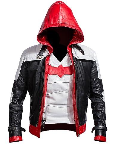 Batman Arkham Knight Leather Jacket - White + Vest 2 in 1