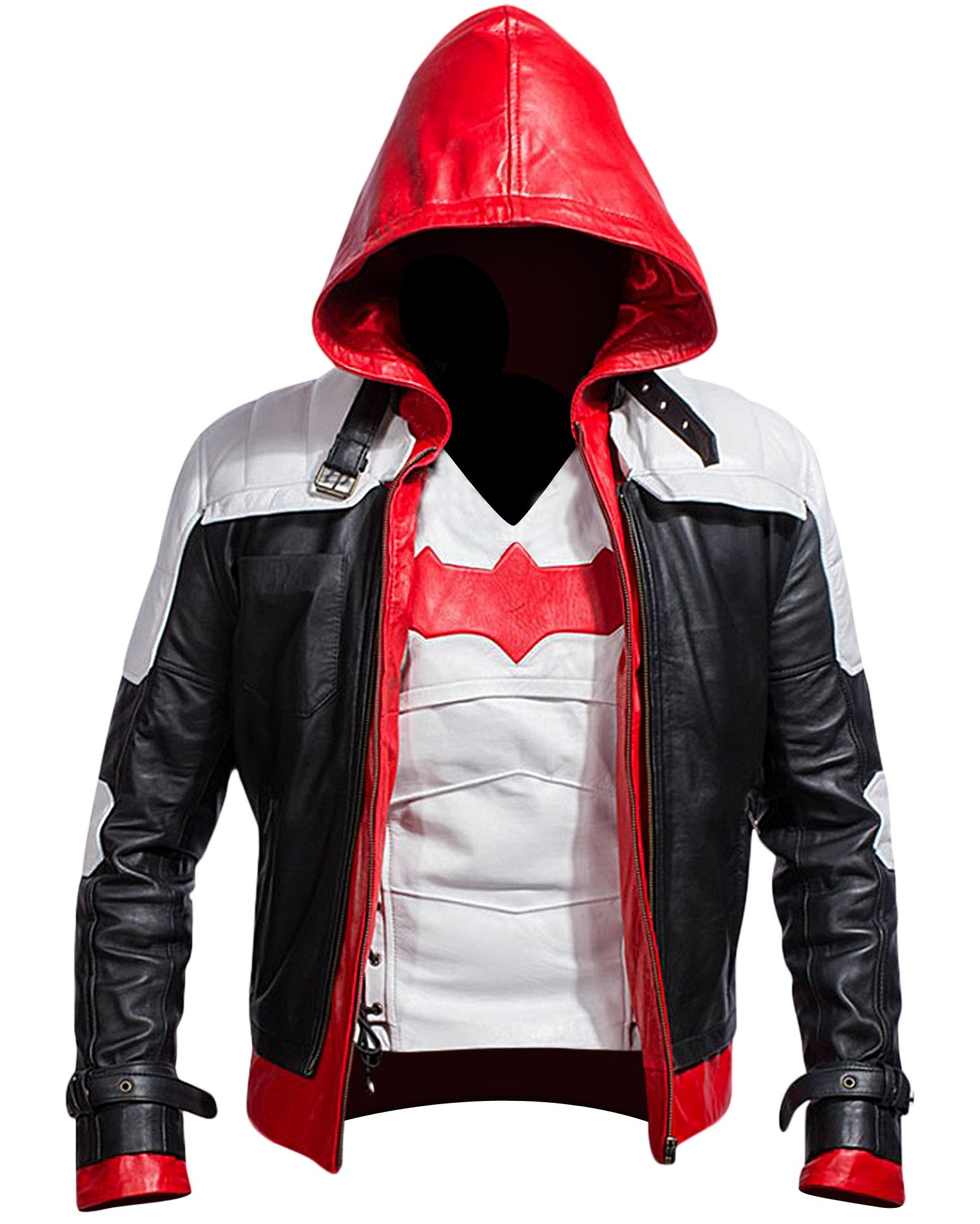 Cup Of Fashion Batman Arkham Knight Leather Jacket + Vest 2 in 1 (Medium, White) by Cup Of Fashion