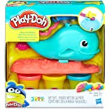 Play-Doh - Wavy the Whale playset inc 3 Tubs of Dough and Acc - Creative Kids Toys - Ages 3+