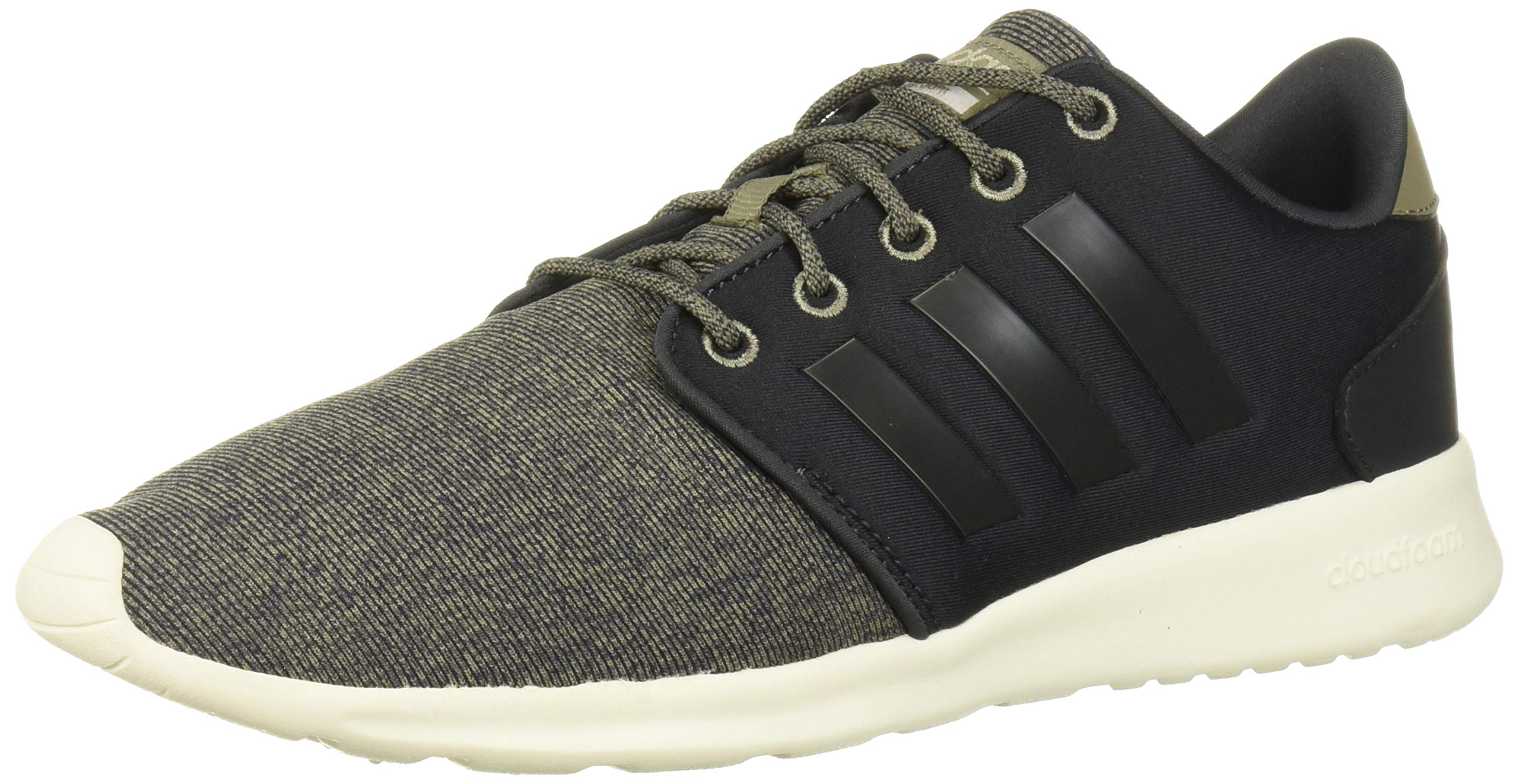 adidas Women's Cloudfoam QT Racer Running Shoe Carbon/Trace Cargo, 7 M US by adidas