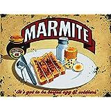 Marmite Vintage Metal Sign, Retro, Shabby Chic, Tin Wall Plaque (Regular 20cm x 15cm)