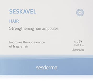Sesderma Seskavel Strengthening Hair Ampoules, 0.28 oz.