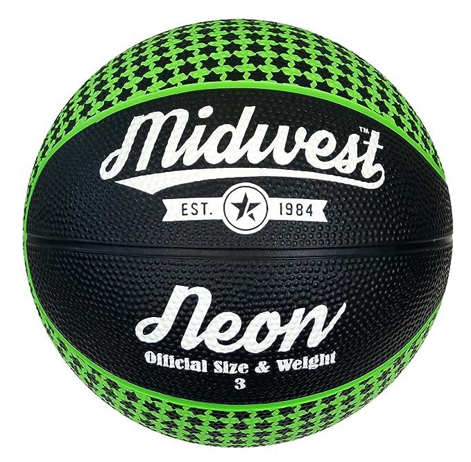 Midwest Neon - Pelota de Baloncesto, Color Negro, Talla Size 6 ...