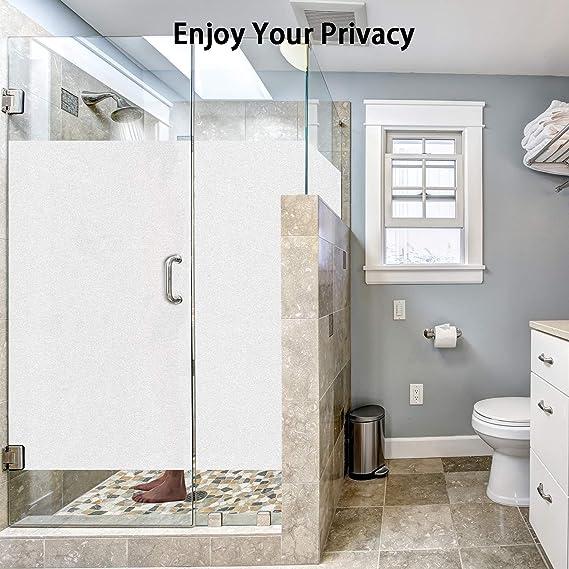 Vinilo Película de Ventana Privacidad Esmerilada, Homegoo Película de Vidrio Electricida Estática Autoadhesivo Facíl Desmontar y Reutilizar Anti UV de ventana para Baño en El Hogar (44 x 200 cm): Amazon.es: Hogar