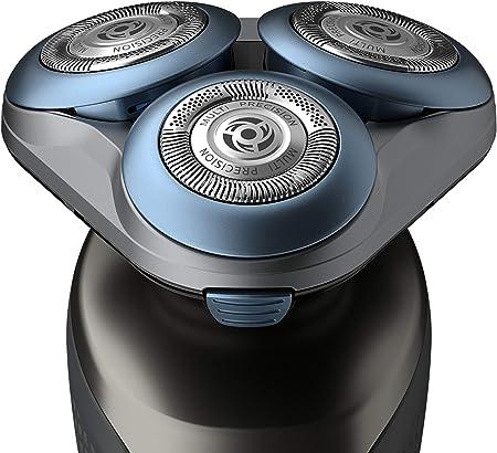 Philips Serie 6000 S6640/44 - Afeitadora Eléctrica para hombre con sistema de protección para la piel, uso en seco/húmedo, 60 min de batería, incluye perfilador de barba y funda de viaje