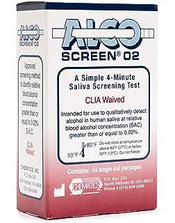 Amazon com: Alco-Screen 2 Minute Saliva Alcohol Test (24