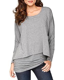 Damen Lagenloock Pullover Tunika Shirt Longshirt A-Form Sterne 48 50 52 Italy