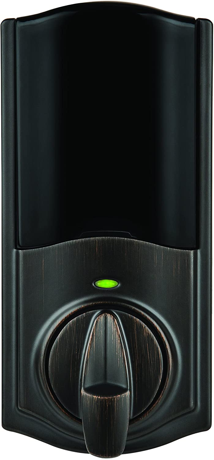 Kwikset 99250-103 Convert Bluetooth Enabled Smart Lock Conversion Kit for Interior Electronic Deadbolt Replacement, Works with Alexa via (Hub and Kevo Plus Not Included), Venetian Bronze