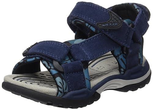 Geox J Borealis Boy E, Sandalias para Niños, Azul (NAVYC4002), 34 EU