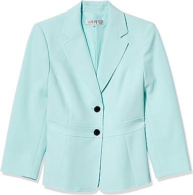 Kasper Womens Stretch Crepe Jacket