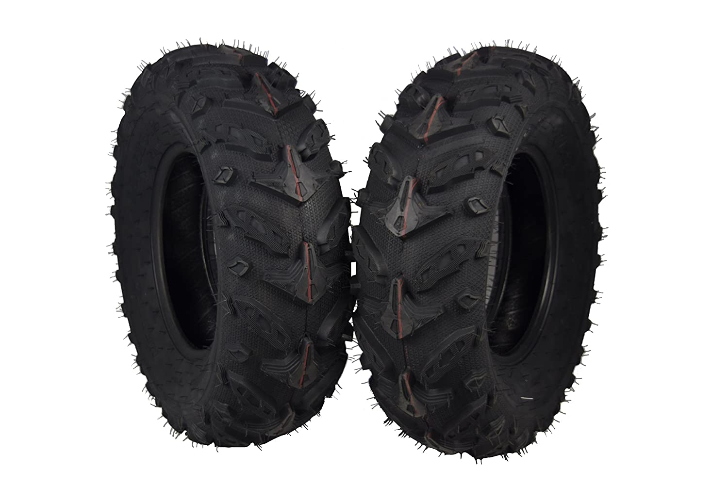 Two Rear 25x10-12 MASSFX Grinder Series ATV Dual Compound Tread Mud Sand Snow and Rock Tires