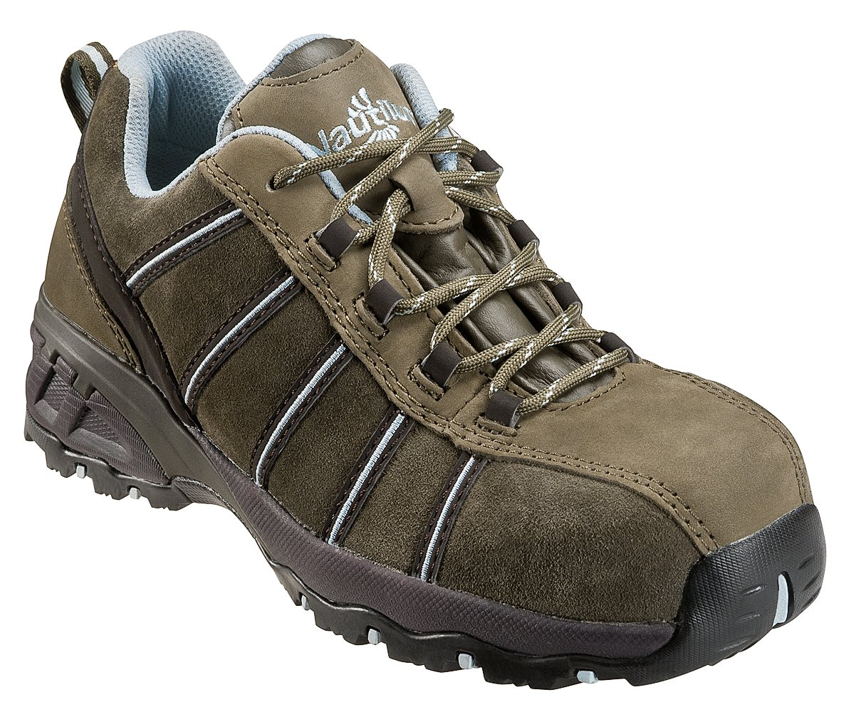 Nautilus Safety Footwear Women's N1758 Composite Toe Sneaker,Olive,9 W US
