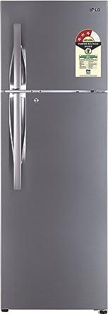LG 360 L 3 Star Frost Free Double Door Refrigerator(GL-T402JPZU.DPZZEBN, Shiny Steel, Inverter Compressor)