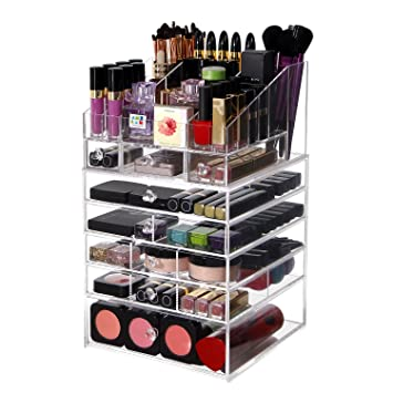 Amazon.com: Lifewit Large 6 Tier Drawers Acrylic Makeup Organizer ...
