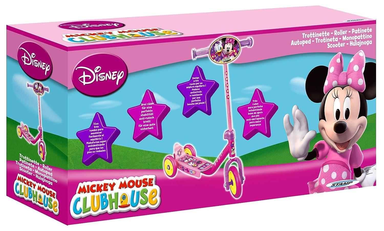 Disney J100044 - Patinete de 3 Ruedas, Color Rosa: Amazon.es ...
