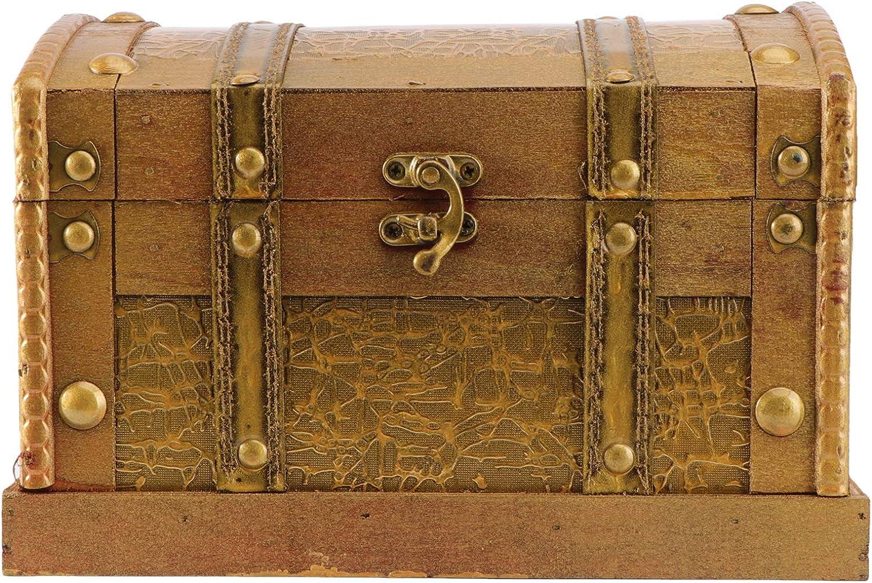 Wood Retro Lock Jewelry Storage Organizer Wooden Case Treasure Chest Box Vintage