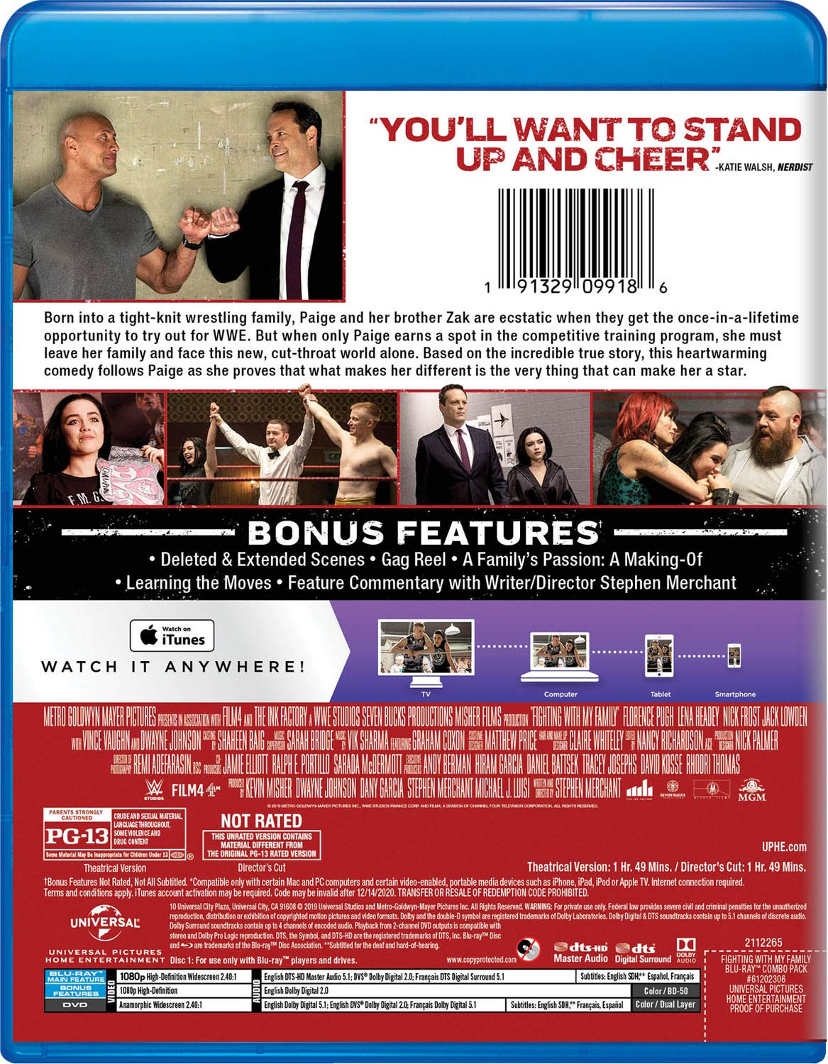 Fighting With My Family [Blu-ray]: Dwayne Johnson, Thomas Whilley