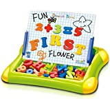 Popsugar Magnetic Writing and Drawing Learning Case for Kids with Alphabets and Numbers, Green