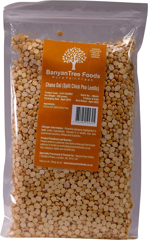 BanyanTree Foods Lentejas de Garbanzos Partidos (Chana Dal) 500 g