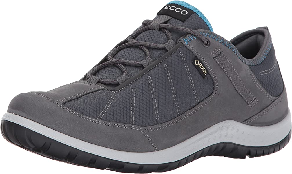 6241b6074fc18 ECCO Women's Aspina Low Gore-Tex Textile Hiking Shoe, Dark Shadow, 35 EU