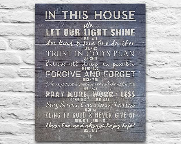 amazon com in this house photo print christian bible verse family