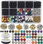 EuTengHao 721Pcs Lava Beads Stone Kits with 8mm Chakra Beads Natural