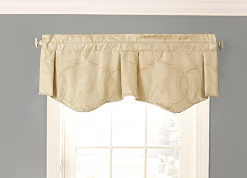 Beautyrest 15780050X021PLG Odette 50-inch by 21-Inch Blackout Single Window Valance, Pale Gold
