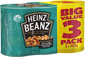 Heinz Baked Beans in Tomato Sauce, 3 x 300g
