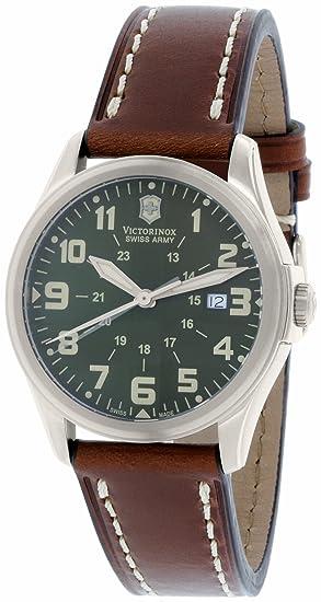 Victorinox Swiss Army 241309 - Reloj de hombre de cuarzo verde con correa de piel (