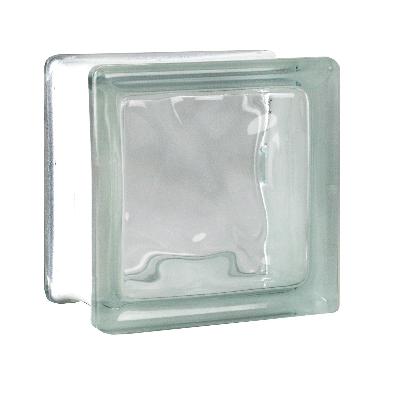 8 piezas FUCHS bloques de vidrio nube neutro 19x19x5 cm