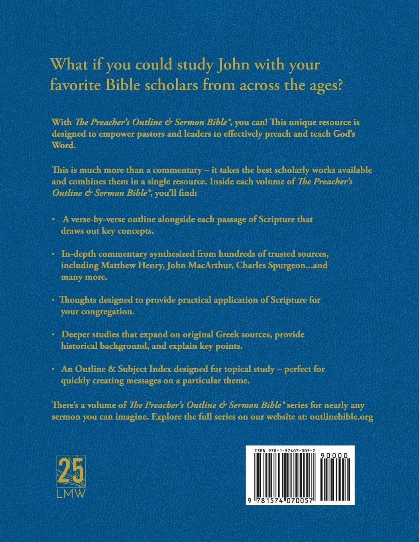 The Preacher's Outline & Sermon Bible: John (Preacher's