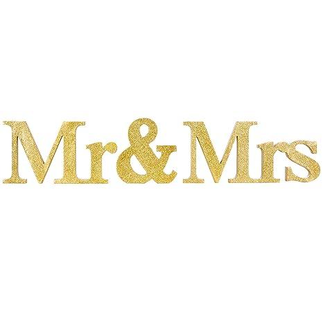 Amazon.com: MyGift – Letras de bloque de oro metálico para ...
