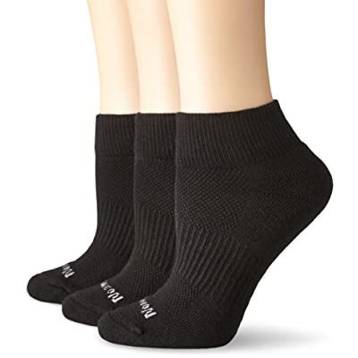 No Nonsense Women's Soft and Breathable Ventilated Cushioned Quarter Top Sock, 3 Pair Pack, Black, One Size, 4-10 at Women's Clothing store: Pantyhose